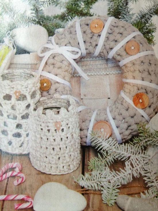 Portal pices floreros y frascos reciclados con trapillo - Cosas de trapillo faciles ...