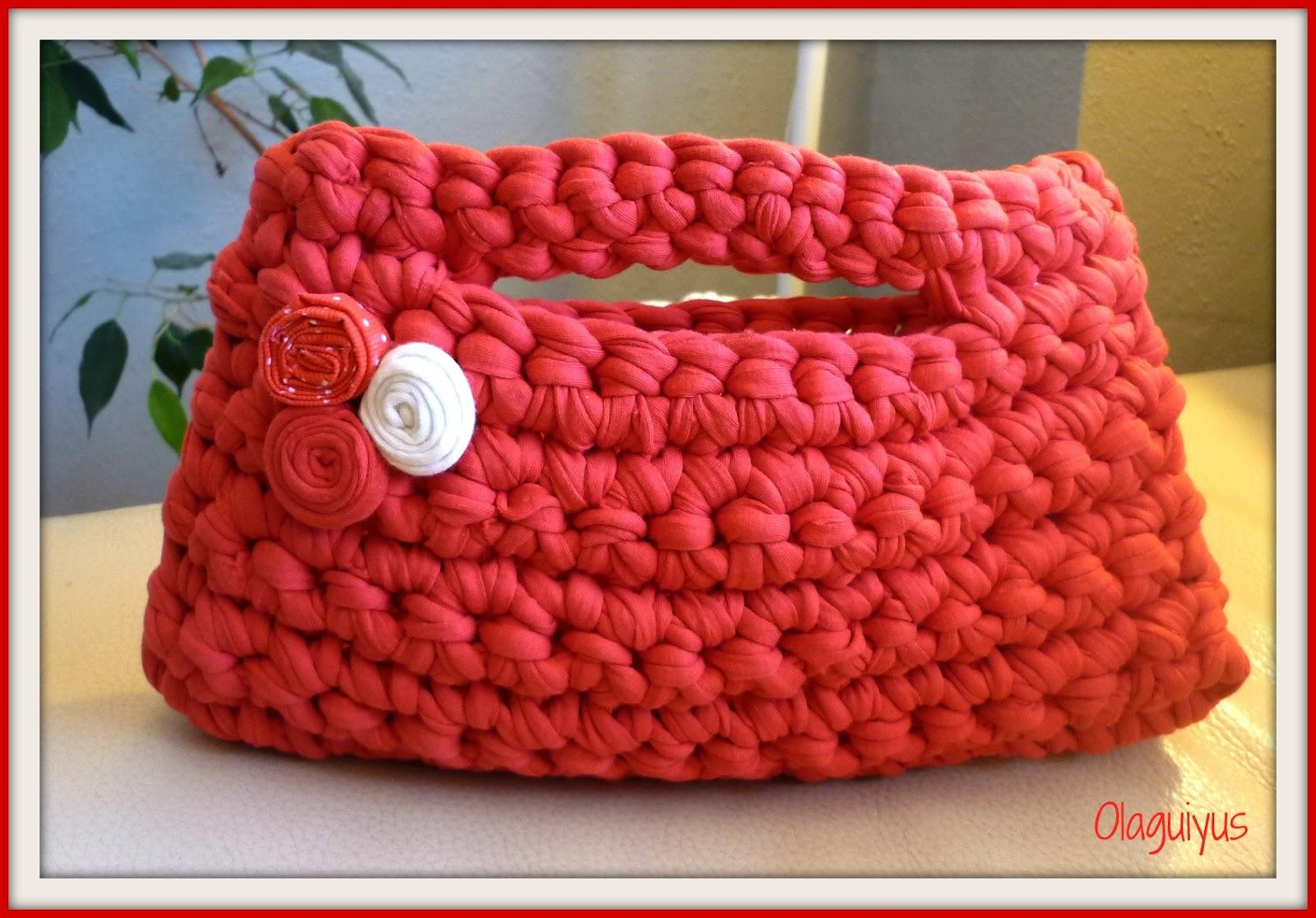 Ideas y esquemas para tejer bolsos o carteras el blog de - Tejer con trapillo ...