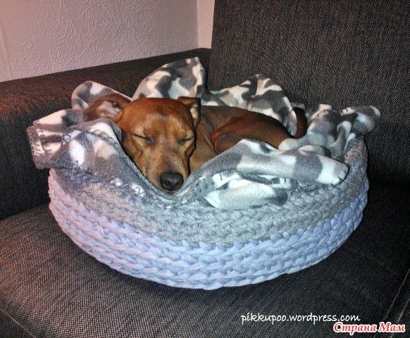 Tejidos en trapillo para nuestras mascotas el blog de - Como hacer alfombras con trapillo ...