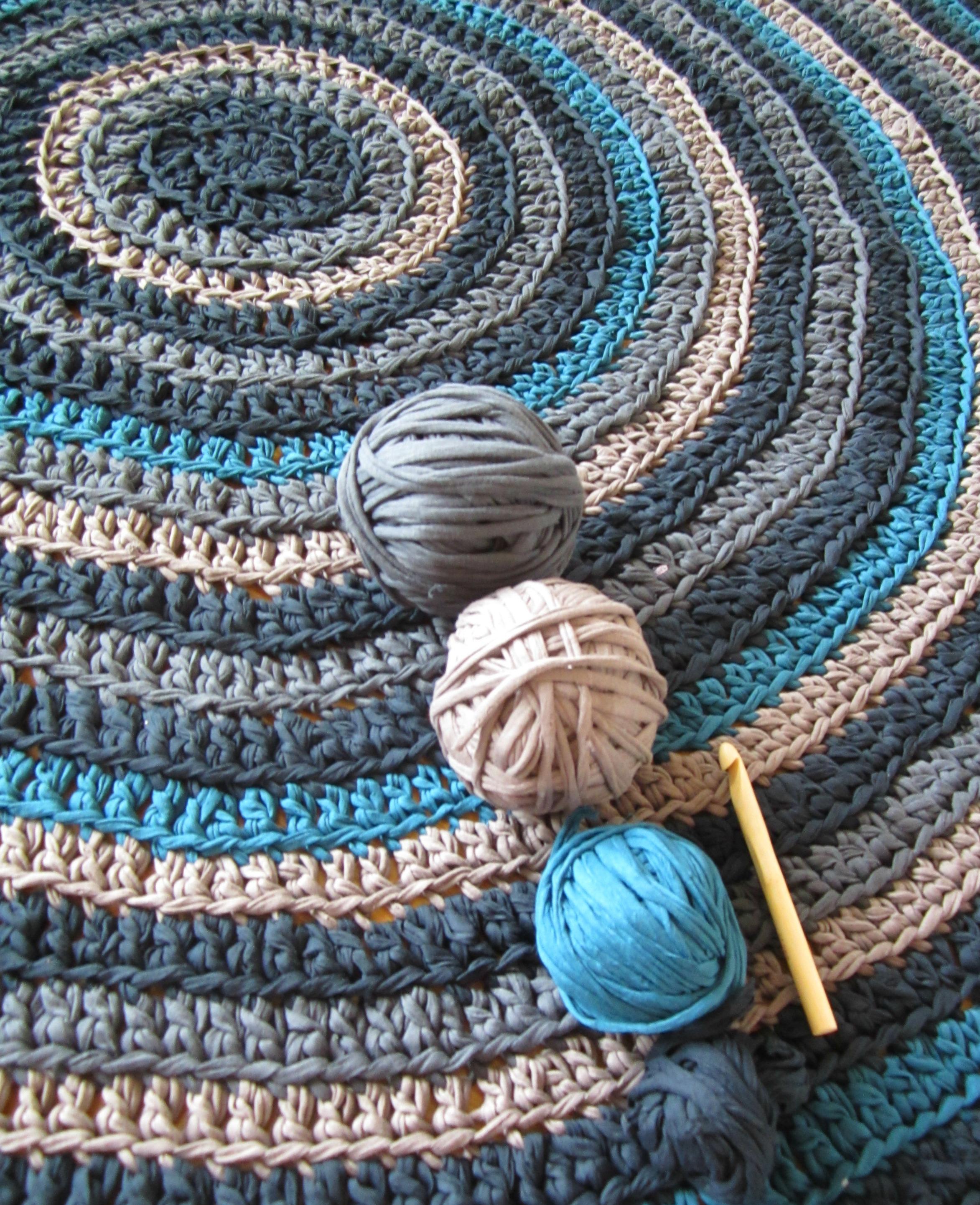 Puntos para hacer una alfombra de trapillo multicolor el blog de - Alfombra de trapillo cuadrada ...
