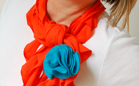 Bufanda de tela reciclada