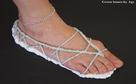 Patrón para hacer sandalias sencillas de trapillo