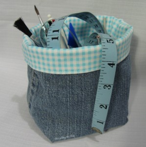 Make-a-Denim-Fabric-Container