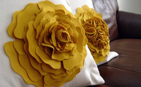 Flor de fieltro para adornar