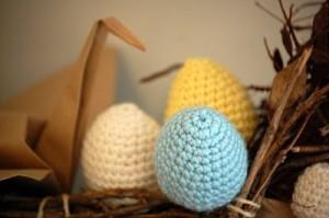 Huevos de trapillo en ganchillo