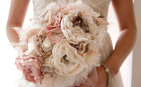 Modelos de bouquets con flores de tela