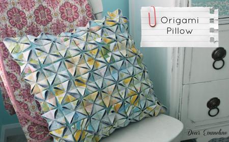 Cómo hacer un cojín origami