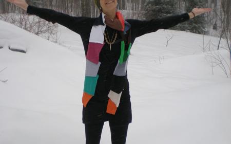 Cómo hacer una bufanda multicolor
