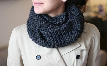 Cómo lucir una bufanda infinita