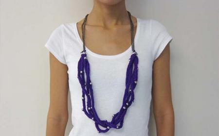 Collares de trapillo con perlas
