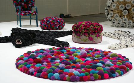 Modelos de alfombras con pompones