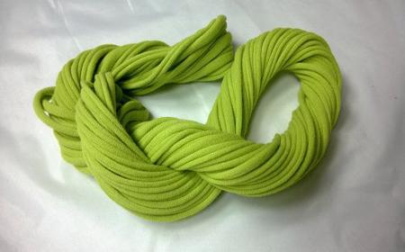 Modelos de bufandas infinitas de trapillo