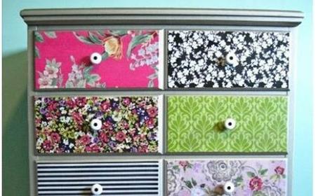 C mo decorar muebles el blog de for Tela para forrar muebles