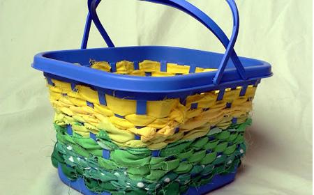 decorar cestas con tela