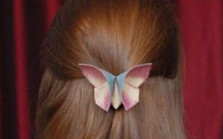 Cómo hacer una mariposa de origami con tela