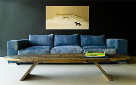 Muebles decorados con jeans