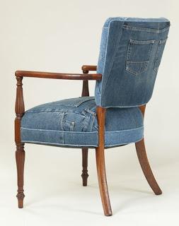 Muebles decorados con jean el blog de - Muebles decorados a mano ...