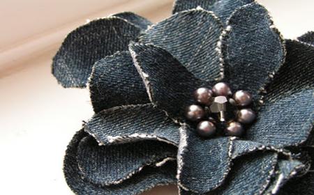 Cómo hacer una flor con jeans