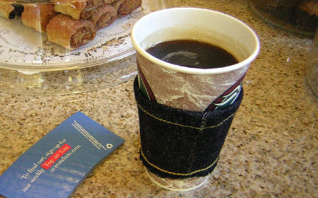 Cobertor para vasos de café