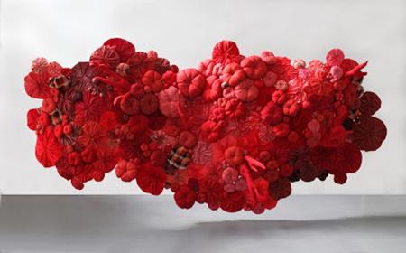 Esculturas de tela reciclada