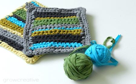 Patrón de ganchillo cobertores para la cocina
