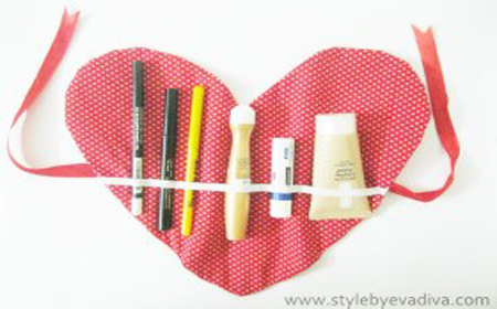 Bolso pequeño para maquillaje (sin costura)