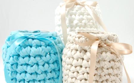 Cobertor tejido para botellas