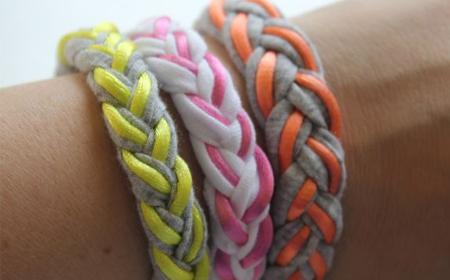 Diseños de brazaletes de trapillo