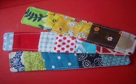 Marcalibros de patchwork