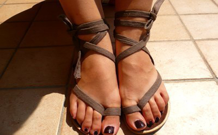 Modelos de sandalias decoradas con trapillo