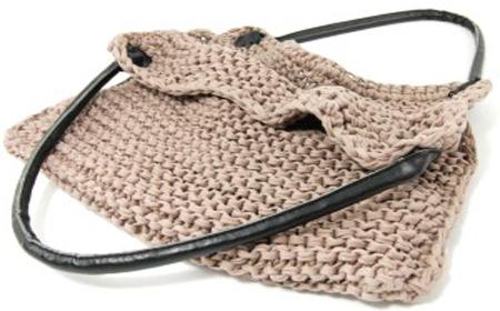 Patrón de bolso tejido de trapillo