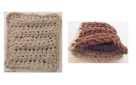 Patrón de ganchillo para esponjas de trapillo
