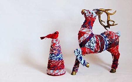 Decoraciones navide as con tela reciclada el blog de - Decoraciones navidenas con reciclaje ...