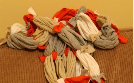 Bufanda multicolor de trapillo