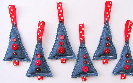 Decoraciones de navidad con jean