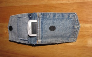 Estuche de jean para celular
