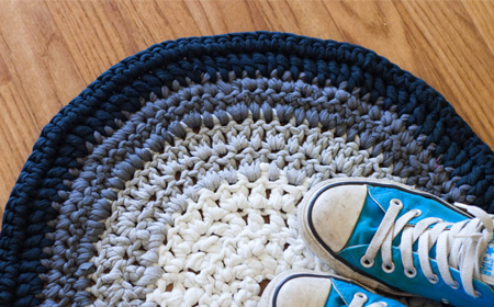Patrón para alfombra ombré de trapillo