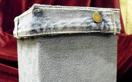 Decorar cajas con jean