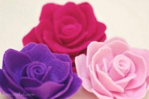 Felt-Rose