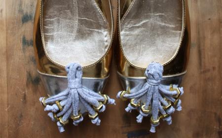 Prendedores de trapillo para decorar zapatos