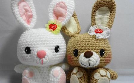 Patrones de conejos de amigurumi