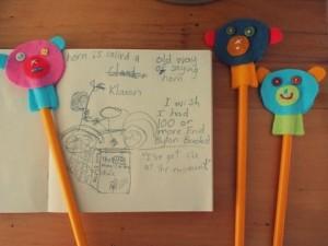 Decoraciones para lápices