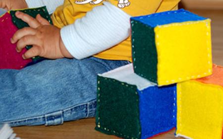 Juguetes para niños cubos de tela