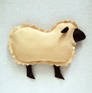 Cojines con forma de oveja