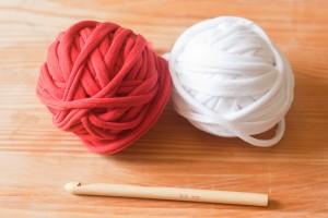 Preparar el trapillo para tejer