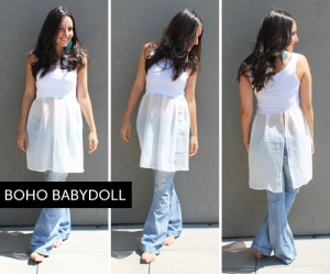 Transformar una camiseta en un chic baby doll