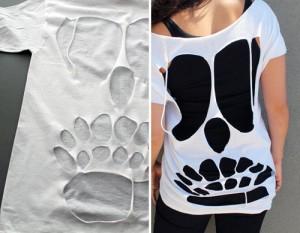 Corta tu camiseta para renovarla