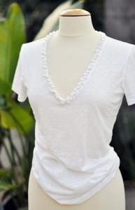 Renovar una camiseta con perlas