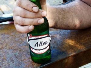 Identificador de bebidas con tela