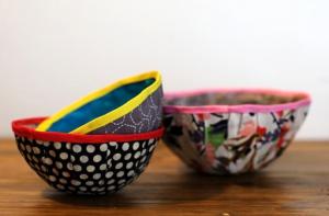 Cómo hacer un bowl con tela